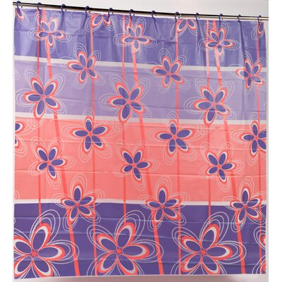 Posy PEVA Shower Curtain with Built in Hooks