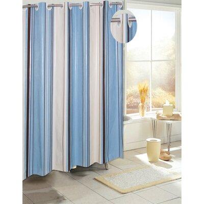 EZ-ON PEVA Stripes Shower Curtain
