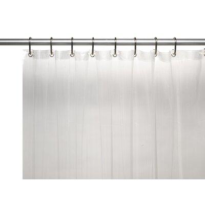 Vinyl 5 Gauge Shower Curtain Liner with Metal Grommets Color: Super Clear