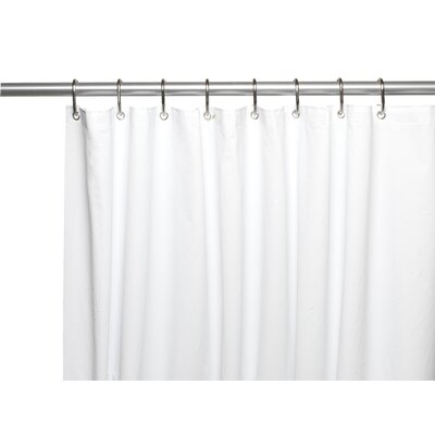 Clean Home PEVA Shower Curtain Liner Color: White
