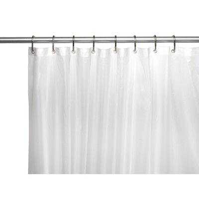 PEVA 6 Gauge Shower Curtain Liner Color: Frosty Clear