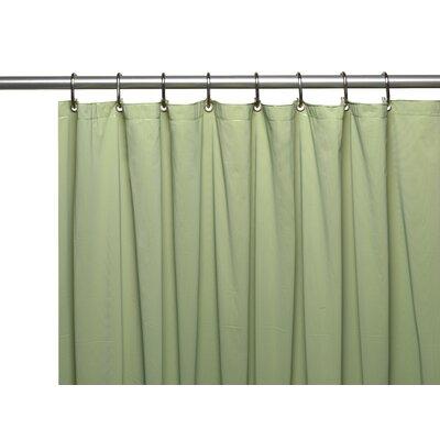 Vinyl 5 Gauge Shower Curtain Liner with Metal Grommets Color: Sage