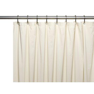 Vinyl 5 Gauge Shower Curtain Liner with Metal Grommets Color: Bone