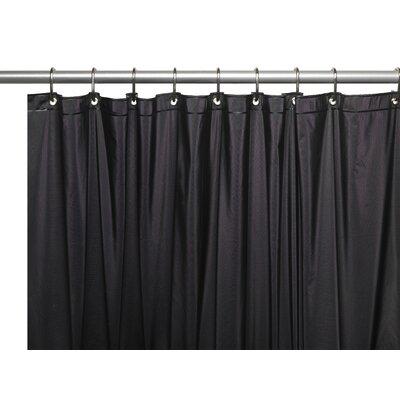 Vinyl 5 Gauge Shower Curtain Liner with Metal Grommets Color: Black