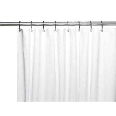 PEVA 6 Gauge Shower Curtain Liner Color: White