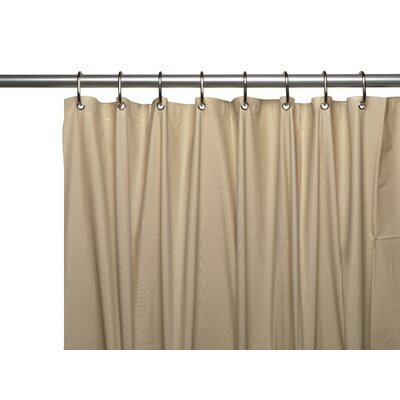 Vinyl 5 Gauge Shower Curtain Liner with Metal Grommets Color: Linen