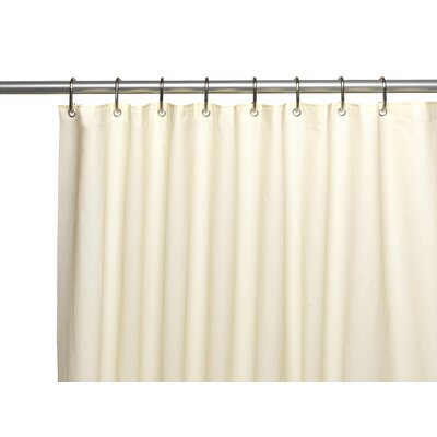 Clean Home PEVA Shower Curtain Liner Color: Ivory