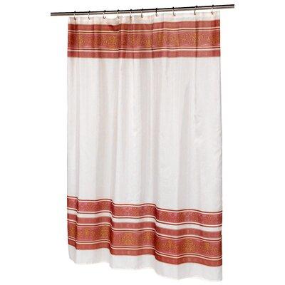 Fleur Shower Curtain Color: Burgundy