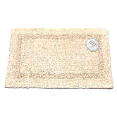 Reversible Cotton Bath Mat Size: Large, Color: Ivory