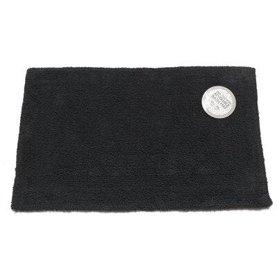 Reversible Cotton Bath Mat Size: Large, Color: Black