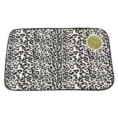 Snow Leopard Faux Fur Bath Mat