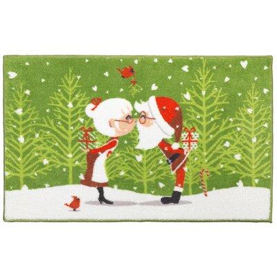 Kissing Claus' Bathroom Rug