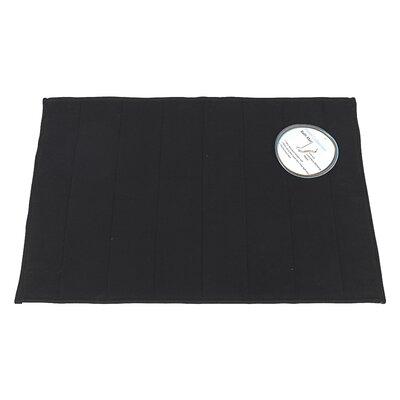 Memory Foam Bath Mat Size: Medium, Color: Black