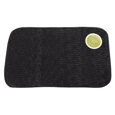 Sable Faux Fur Bath Mat Color: Black
