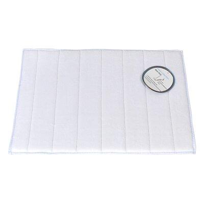 Memory Foam Bath Mat Size: Medium, Color: White