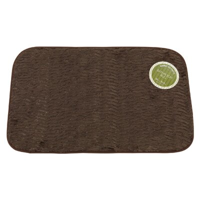 Sable Faux Fur Bath Mat Color: Brown