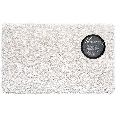 Shaggy Cotton Chenille Bath Rug Color: White