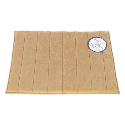 Memory Foam Bath Mat Size: Medium, Color: Linen