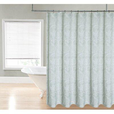 Loraine Paisley Shower Curtain Color: Sage