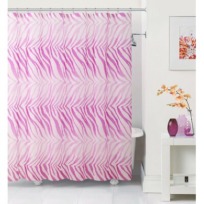 Arlene Zebra Shower Curtain Color: Pink