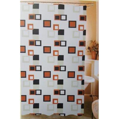 Kaeden Abstract Blocks Vinyl Shower Curtain