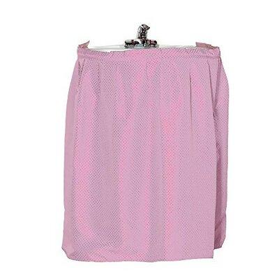 Parish Diamond-Piqued 100% Polyester Sink Drape Color: Rose