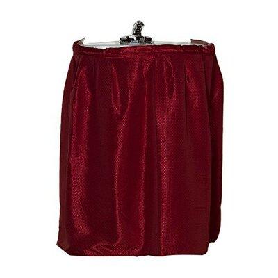 Parish Diamond-Piqued 100% Polyester Sink Drape Color: Burgundy