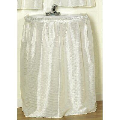 Parish Diamond-Piqued 100% Polyester Sink Drape Color: Ivory