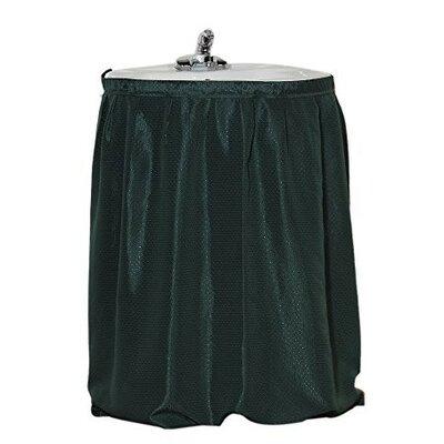 Parish Diamond-Piqued 100% Polyester Sink Drape Color: Evergreen