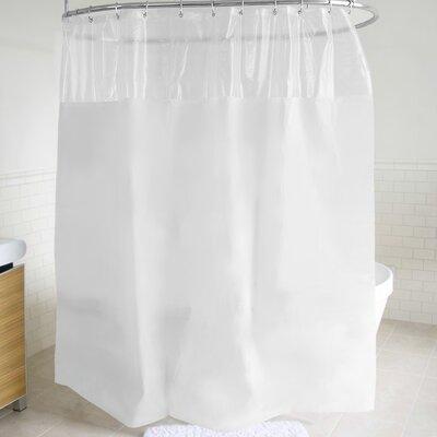 McSheffrey Bath Peekaboo Window Shower Curtain Color: White