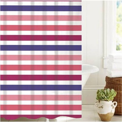 McSheffrey Bath Summer Stripe Shower Curtain
