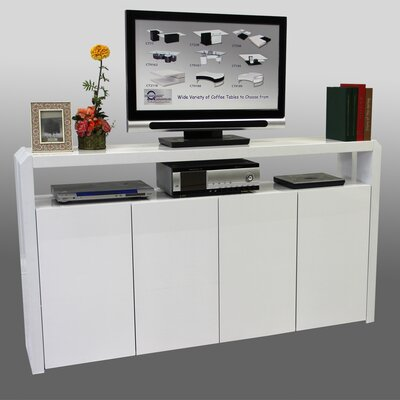 4 Door Accent Cabinet Color: White