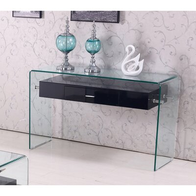 Console Table Color: Black