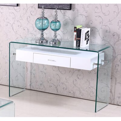 Console Table Color: White