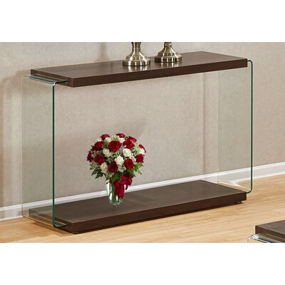 Iglesias Console Table Color: Walnut