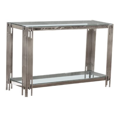 Hardin Console Table Color: Silver