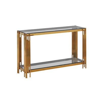 Hardin Console Table Color: Gold