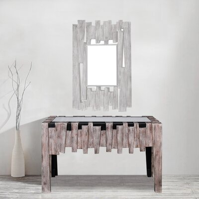 Bailey Mirrored Glass Top Console Table