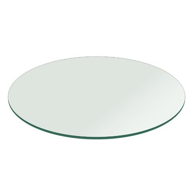 "Round Flat Polished Tempered Glass Table Top Size: 30"" L x 30"" W"