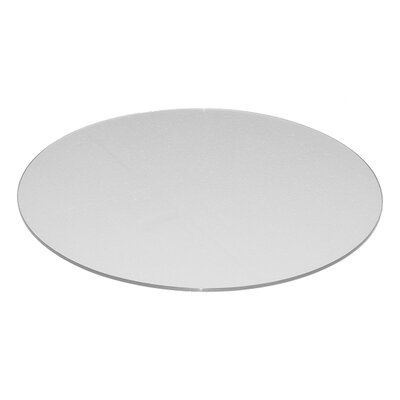Round Flat Tempered Back Painted Glass Table Top Color: White