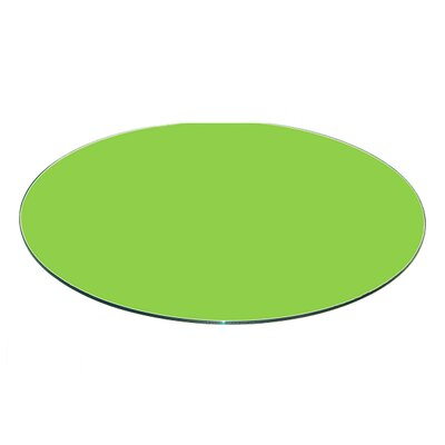 Round Flat Tempered Back Painted Glass Table Top Color: Green