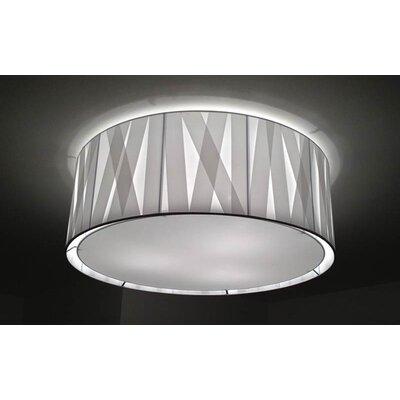 Bernd Unrecht Cross Lines 1 Light Flush Ceiling Light