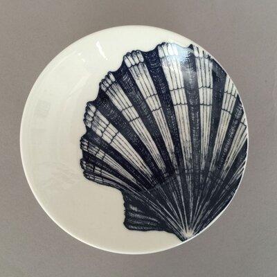 Cream Cornwall Maritime Scallop Shell Nibbles Dish