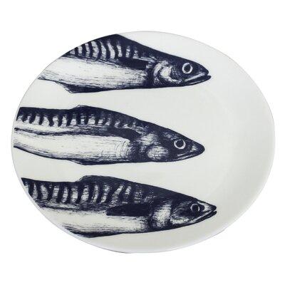 Cream Cornwall Maritime 26cm Mackerel Heads Plate