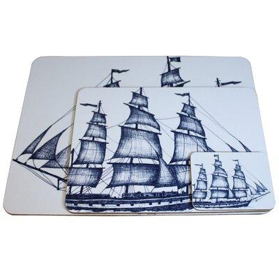 Cream Cornwall Packet Ship Coaster