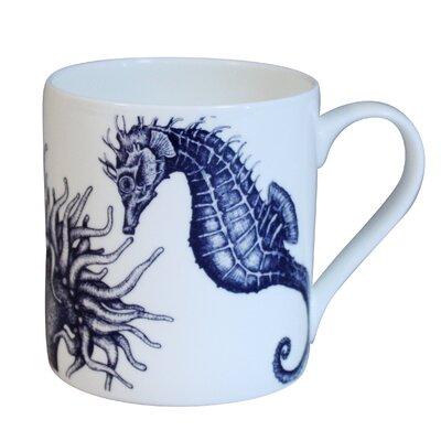 Cream Cornwall Maritime Seahorse Mug