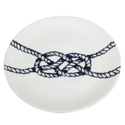 Cream Cornwall Maritime 26cm Knot Plate
