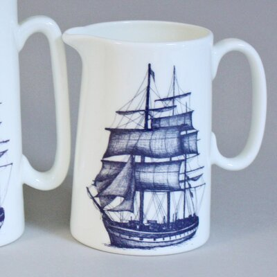 Cream Cornwall Packet Ship Pitcher