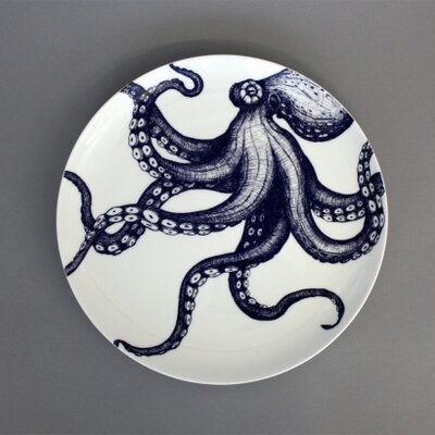 Cream Cornwall Maritime Octopus Nibbles Dish