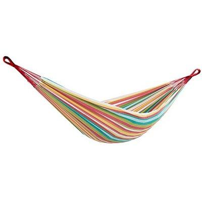 Brazilian Single Cotton Camping Hammock Size: Single, Color: Salsa